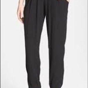 Eileen Fisher 100% silk black pants
